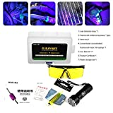 Car air Conditioning A C System Leak Test Detector kit Protective Glasses UV dye Tool kit LED UV Flashlight car air Conditioning Repair Tools
