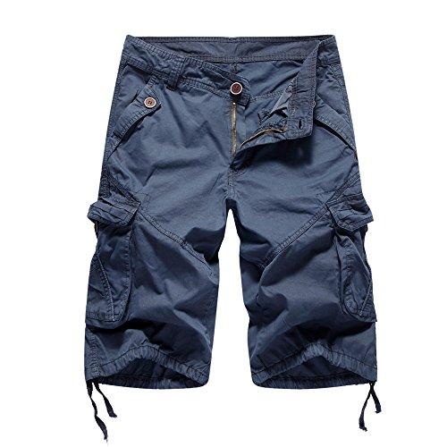 - Outdoor Recreation Shorts Pants with Pocket ❤️Sumeimiya Dark Blue