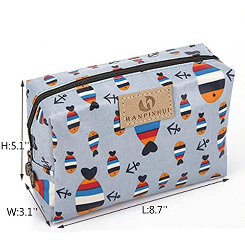 01edf06a8d46 Cute Travel Makeup Pouch Cartoon Printed Toiletry Cosmetic Bag for ...
