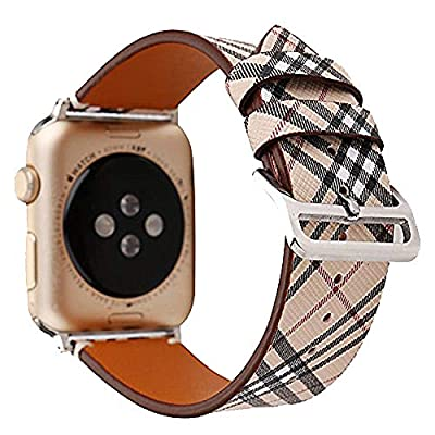 Lisadream Apple Watch Band Digital Genuine Leather Watch Strap Wristband Replacement For iWatch series 1 2 3 4