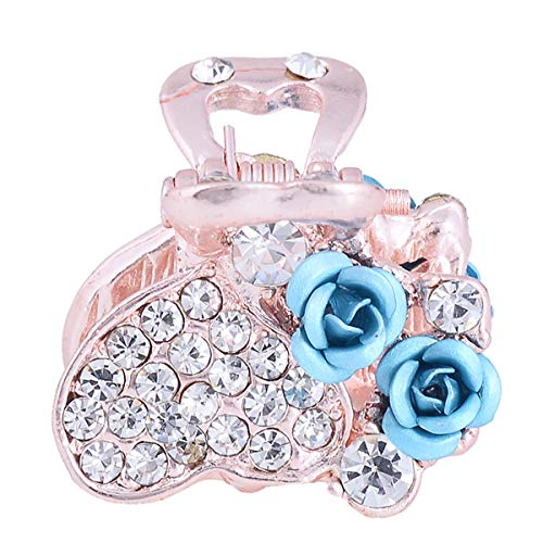 Exquisite Rose Flower Hair Claw Clip Women Hair Accessories Hair Clips Claws for Girls Kids (Laker Blue 629)