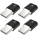 USB Type C Adapter,JXMOX (4-Pack) Micro USB Female to USB C Male Convert Connector Fast Charging Compatible with Samsung…