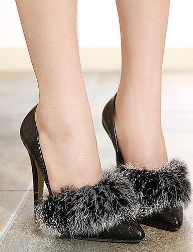 GGX/Damen Schuhe PU Fall Spitz Zulaufender Zehenbereich Heels Party & Abend/Kleid Stiletto Heel-schwarz black-us6 / eu36 / uk4 / cn36