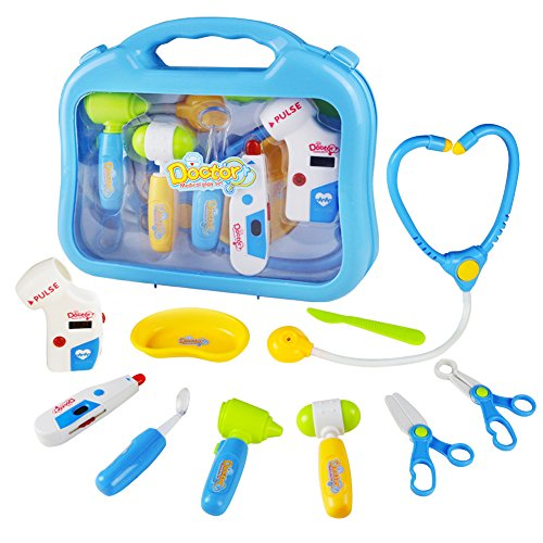 Pulse Kit (yoptote Doctor Kit Pretend Play Girls Toys Medical Case Role Play Sets for Kids Boys Girls 3 Years Old and Up,Blue)