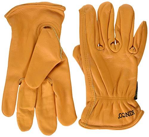 (Kinco 035117008137 Grain Buffalo Leather Ranch and Work Glove, Medium)
