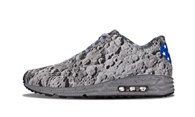 sports shoes 4c7f2 34362 Nike Mens Air Max Lunar90 SP Moon Landing Reflective Silver Metallic Gold  Synthetic Athletic Sneakers