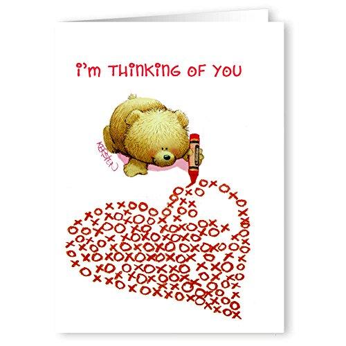 Cute Teddy Bear Xoxo Heart Valentine's Day Card Set - 18 Cards & Envelopes