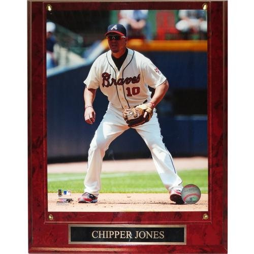 Chipper Jones Atlanta Braves (Action) Licensed 8x10 Photo Plaque