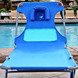 Ostrich Ladies Comfort Chaise Lounger - Blue with Custom Fit Towel