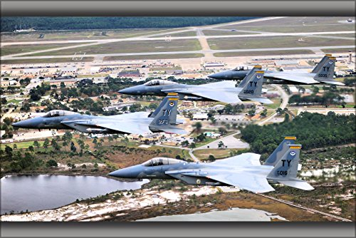 2 Eagle Base (24x36 Poster . F-15S Eagle F-15 2Nd Fighter Squadron Tyndall Air Force Base)