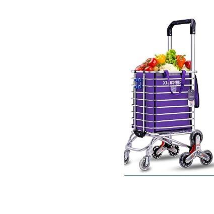 Carrito de la compra Comprar un carrito de verduras Carrito pequeño Subir al suelo Plegable Carros