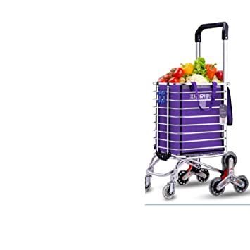 Carrito de la compra Comprar un carrito de verduras Carrito pequeño Subir al suelo Plegable Carros de mano Carretilla Casa Coche de la carretilla-A: ...