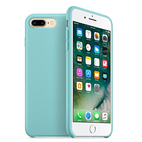 iPhone 7 Plus & iPhone 8 Plus case,YAZHAN Liquid Silicone Gel Rubber Slim Fit Soft Mobile Phone Case with Microfiber Cloth Lining Cushion for Apple iPhone 7 Plus (2016) / iPhone 8 Plus(2017)
