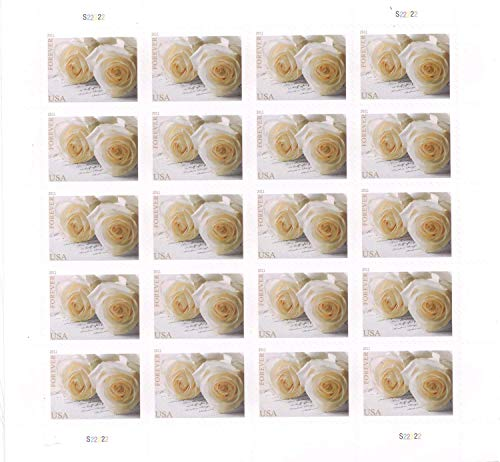 USPS 575900 Series Wedding Roses Commemorative Stamp Scott 4520 Sheet of 20 Forever Stamps ()