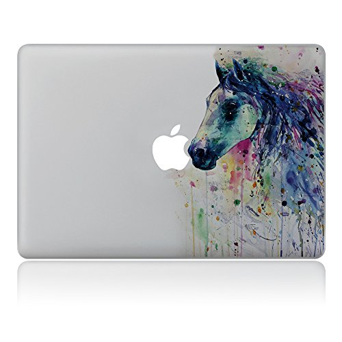 Kiseki MacBook Sticker Watercolor Horse Laptop Notebook Decal Skins Stickers Fit for MacBook Air Pro Retina 13