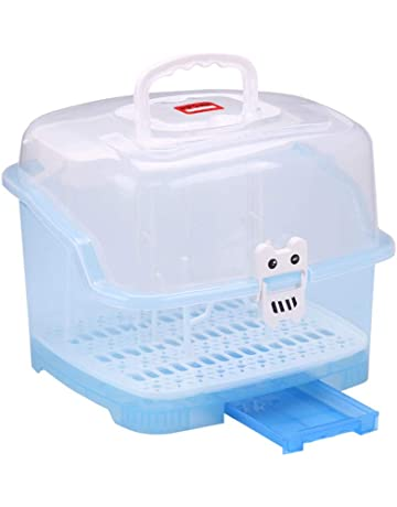 luckything Babyflasche Aufbewahrungsbox Babyflaschen W/äschest/änder Tragbare Flaschentrocknergestelle Mit Staubschutz Trocknerstand Aufbewahrungsbeh/älter Flasche Trockengestell Flaschen Organizer