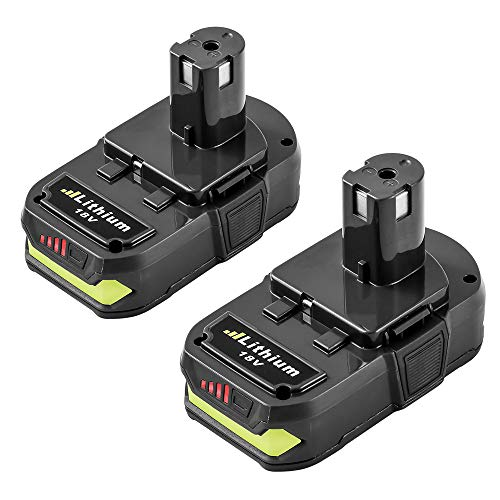 2Packs Replace for Ryobi 18V Battery Lithium Ryobi ONE+ P102 P103 P104 P105 P107 P108 P109 P122 Cordless Power Tools (Oneplus One Battery Pack)