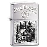 Zippo 28756 Jack Daniels Scenes Lynchburg 4 Brushed Chrome Windproof Lighter NEW