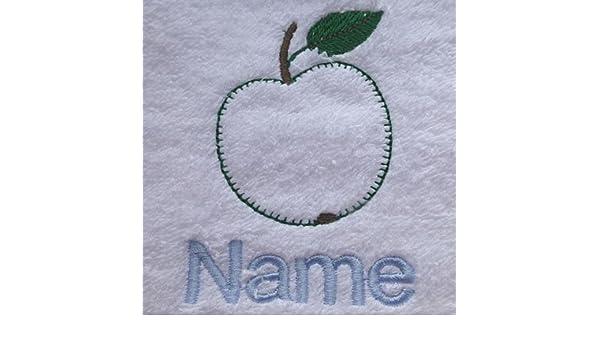 Toalla para la cara, toalla de mano, toalla de baño, baño (o) personalizado con Apple Logo y nombre de su elección, White, Black, Aqua, Cream, Chocolate, ...