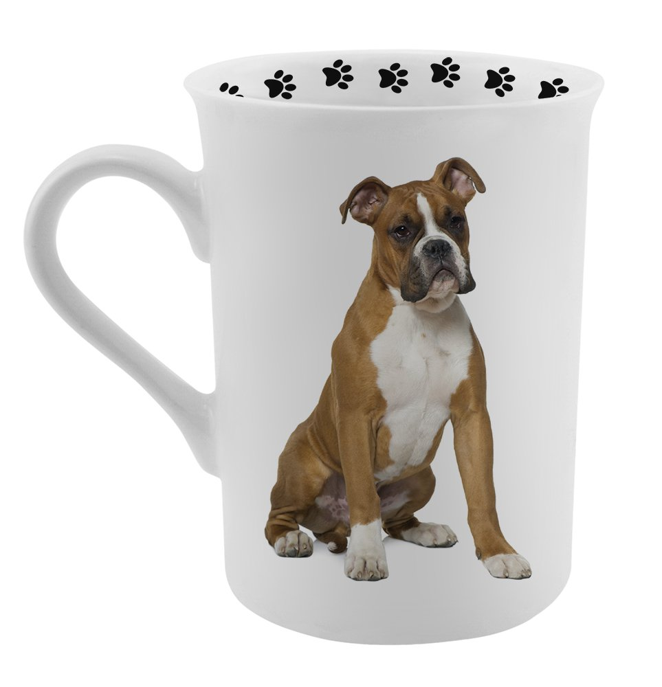 Amazon.com: Dimension 9 Boxer Coffee Mug, White: Kitchen & Dining