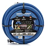 AG-Lite Rubber Hot & Cold Water Rubber Garden Hose: Ultra-Light & Super Strong - 10 Year Warranty (3/4 x 10')