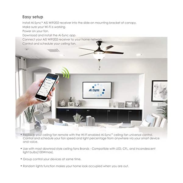 Ai-Sync-AiS-WIFI202-AiS-TR100-Smart-Ceiling-Fan-Remote-Control-with-Wi-Fi-Enabled