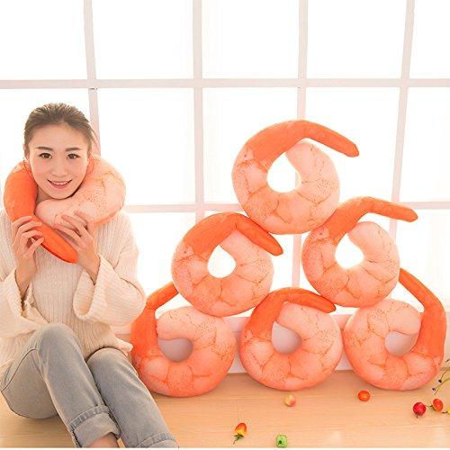 Shrimp Stuffed tourist office napping pillow neck pillow-u pillow creative seafood PP - Online Boots Card Advantage