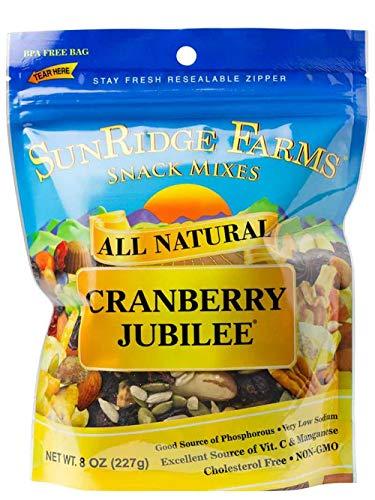 - SunRidge Farms Cranberry Jubilee Mix NonGMO Verified 8 Ounce Bag (Pack of 12)
