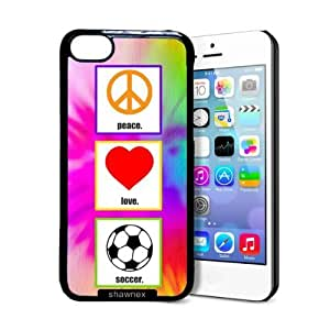 TYHH - Shawnex Love Peace Soccer iPhone 5/5s Case - Thin Shell Plastic Protective Case iPhone 5/5s Case ending phone case