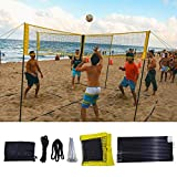 Tavot Volleyball Net Rack, Portable Four-Sided