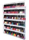 Support/présentoir mural pour Vernis à ongles ou figurines de collection Verre acrylique, XXL avec 6 étagères