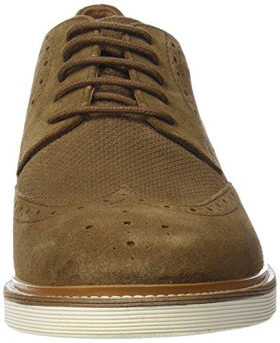 para Geox Zapatos U B Brogue Damocle Brown Marrón de Cordones Hombre q0FqSwr