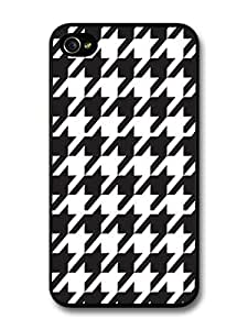 Hound's Tooth Black And White Cool Hipster Style Design case for iPhone 4 4S