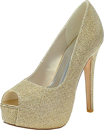 Vimedea Womens Peep Peep Peep Toe Platform Dress Bride Slip On Pumps Party Prom 3128-30 B07F1TPH66 Shoes e6ef33
