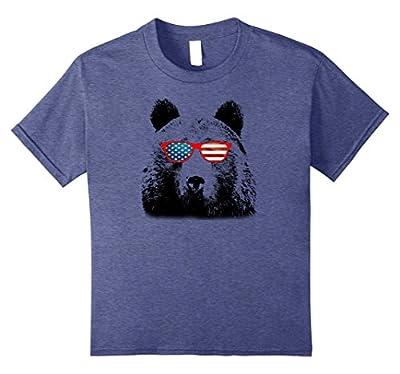 Patriotic Bear Tshirt - USA American Sunglass Funny Tee