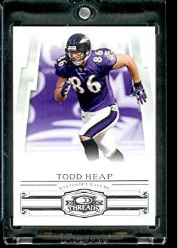Todd Heap Baltimore Ravens (Football Card) 2007 Donruss Threads #137