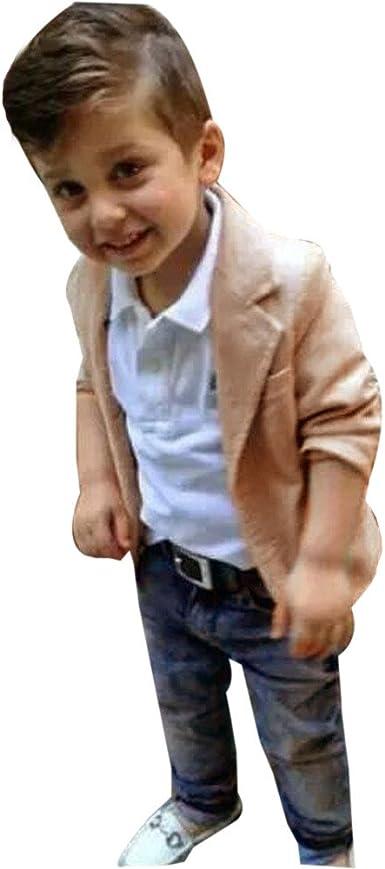 KaiCran Toddler Baby Boys Gentleman Jumpsuit Set Long Sleeve 3Pcs Cute Formal Suit Outfit