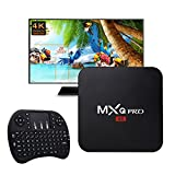 Kodi 17.4 Krypton MXQ Pro Android TV BOX,Amlogic S905X Quad-Core Android 6.0 Wifi 4K Google Streaming Media Player,with I8 Mini 2.4Ghz Wireless Touchpad Keyboard