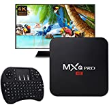 Bestobal MXQ Pro Android TV BOX,Amlogic S905 Quad-Core Android 5.1 MXQ Pro TV BOX 1G RAM 8G Flash Support Wifi 4K Google Streaming Media Player,with I8 Mini 2.4Ghz Wireless Touchpad Keyboard