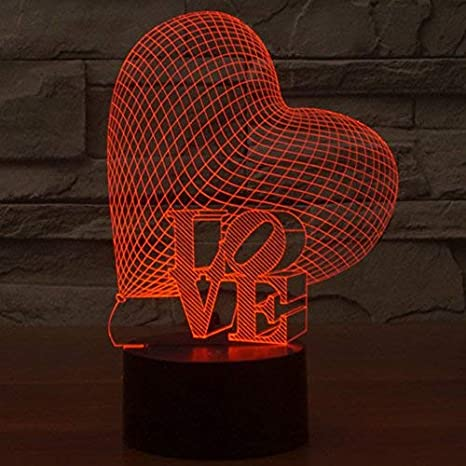 Latest Collection Of 3d Illusion Lighting I Love You Led Night Light Multicolor Lamp Romantic Valentines Holiday Gift 3d Lamp For Girls Led Night Lights