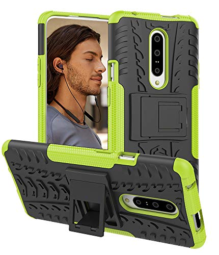 Oneplus 7 Pro Case, Androgate [Armor Series] Hybrid Heavy Duty Combo Phone Case Cover with Kickstand for OnePlus 7 Pro (2019), Green