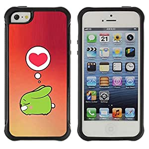 fashion Case / Cute () Heart Love Bunny / Apple Iphone 5 / 5S