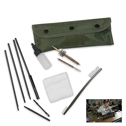 MILITARIA M16/Ar-15 Rifle Complete Cleaning Kit, Olive Drab