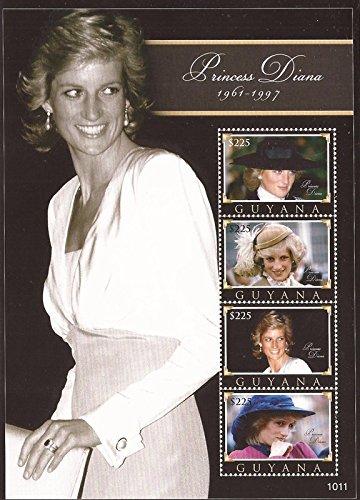 Princess Diana Sheet (Guyana - 2010 Princess Diana - 4 Stamp Sheet - Scott #4027 7C-029)