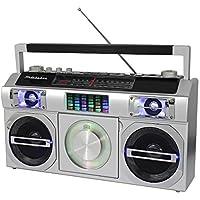 Studebaker SB2149S Master Blaster Bluetooth Boombox with 3 Way Power, AM/FM Radio, USB Port, CD Player with MP3 Playback…