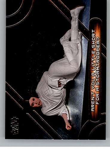 2017 Topps Star Wars Galactic Files Reborn Famous Movie Quotes #MQ-3 Aren't you a little short for a -