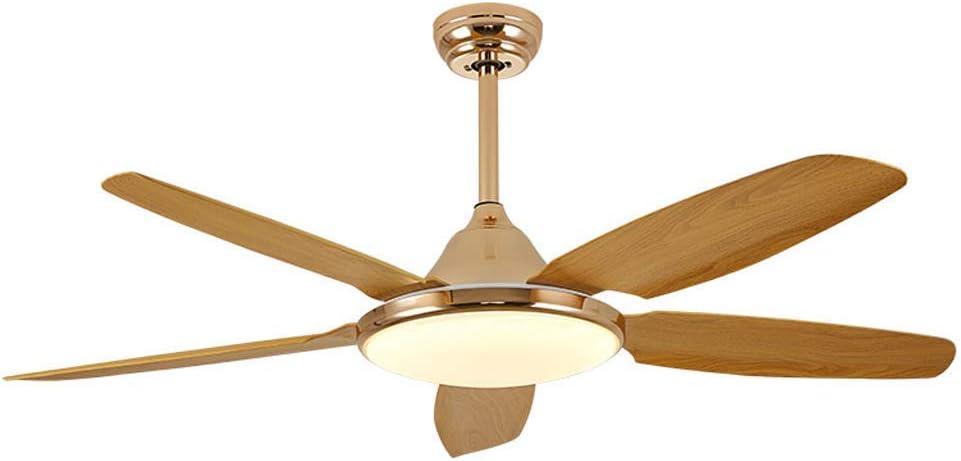 BAIJJ Ventilador de Techo Moderno LED Mudo Sala de Estar Fábrica Oficina Control Remoto Ventilador Luz/Iluminación Interior Ventilador Decorativo Lámpara con 5 aspas/Regulable (42/52 ')
