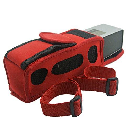 Price comparison product image Bose-SoundLink Mini/Mini 2 Speaker Case - TOOGOO(R)Bike Motor Bag Pouch Sleeve Case For Bose-SoundLink Mini/Mini 2 Speaker Case, Red