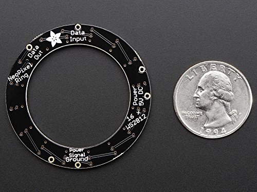 Adafruit NeoPixel Ring - 16 x 5050 RGB LED with Integrated Drivers [ADA1463]