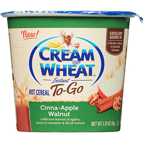 Cream of Wheat, Hot Cereal to Go, Cinna-Apple Walnut, 2.29 Ounce (Pack of 6)